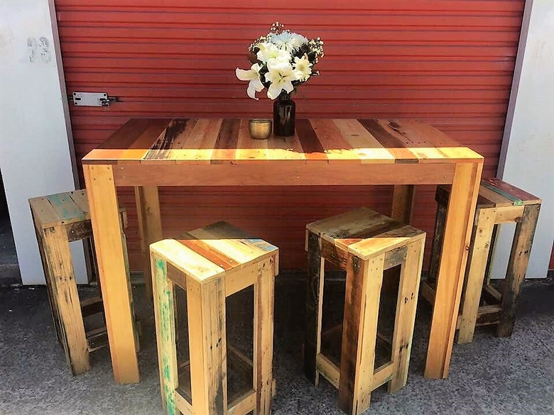 wooden pallet furniture plan