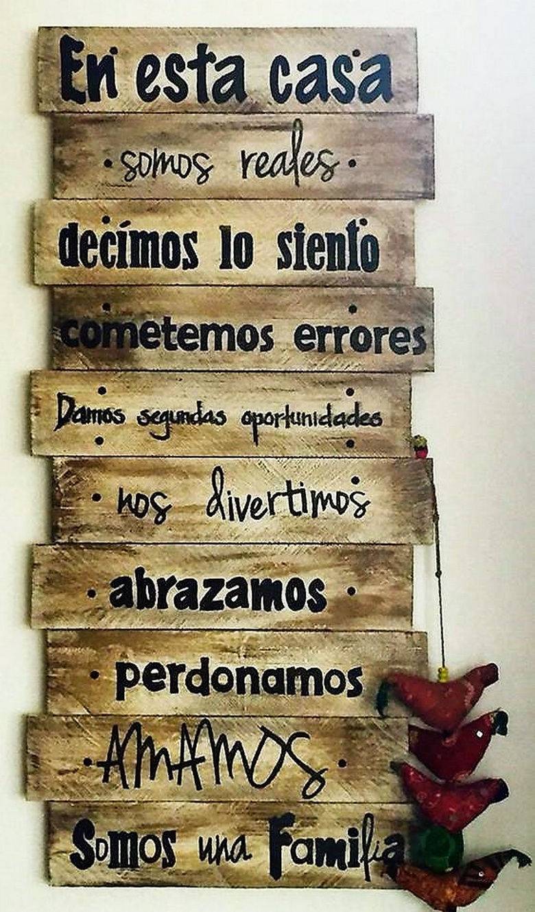 wooden pallets wall art
