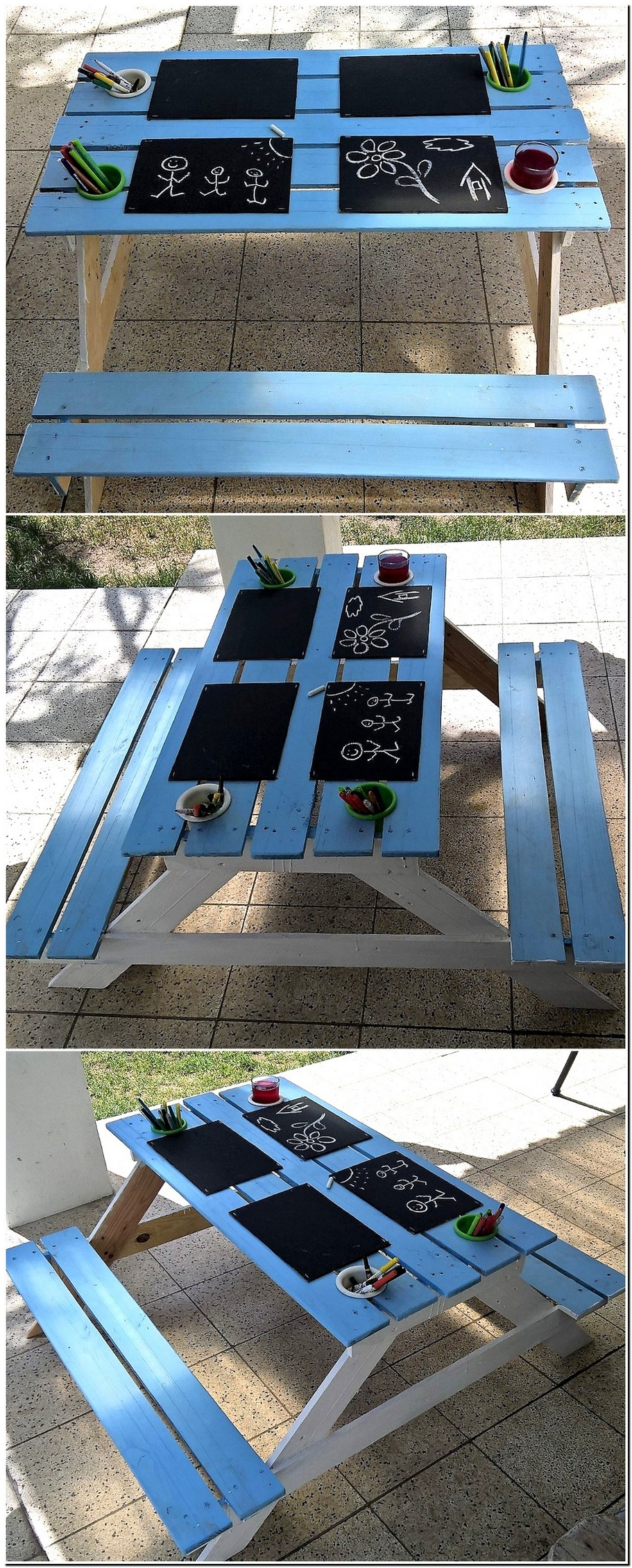 Baby Kiddies Pallets Picnic Table