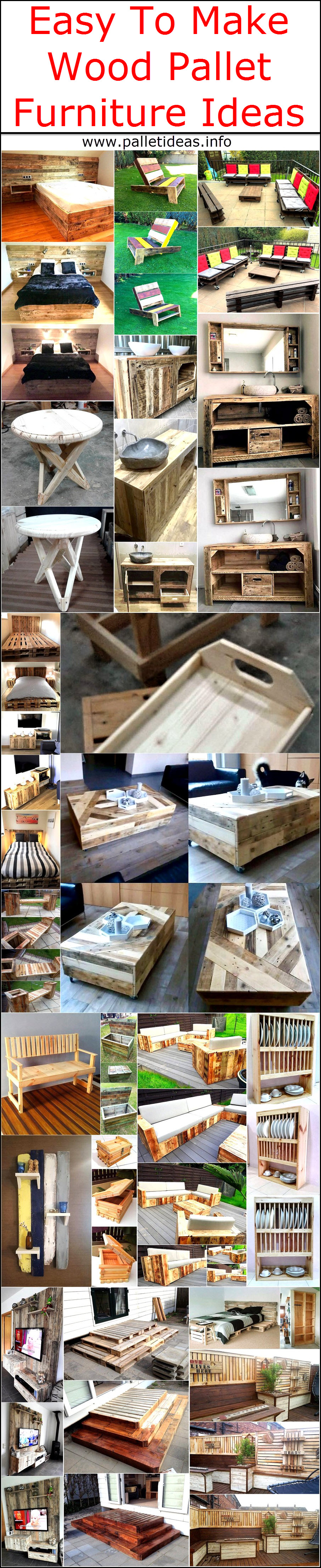 easy to make furniture ideas.  Easy To Make Wood Pallet Furniture Ideas