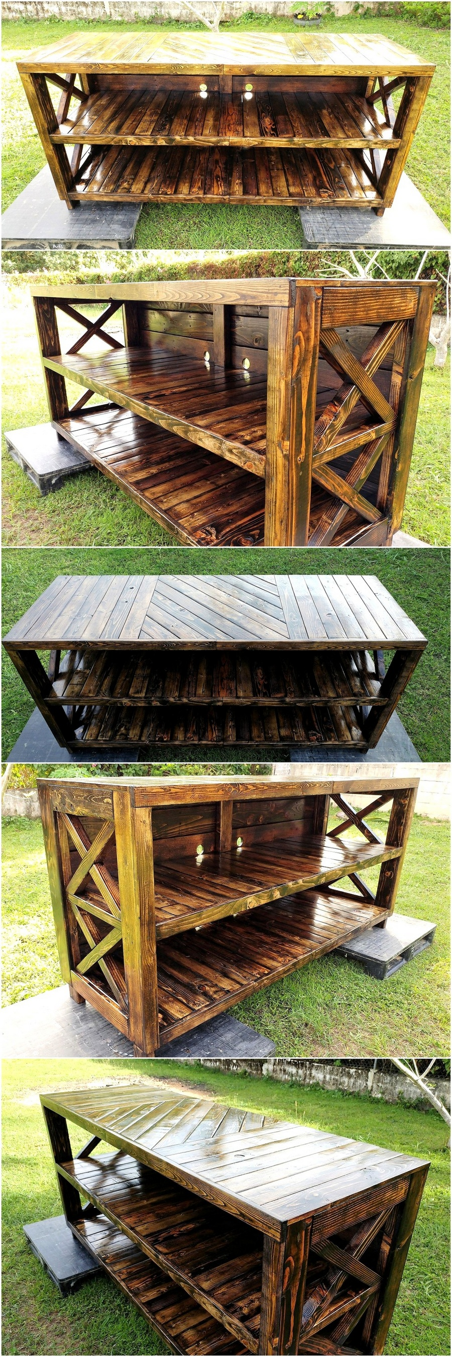 Recycled Wooden Pallets Entertainment Center