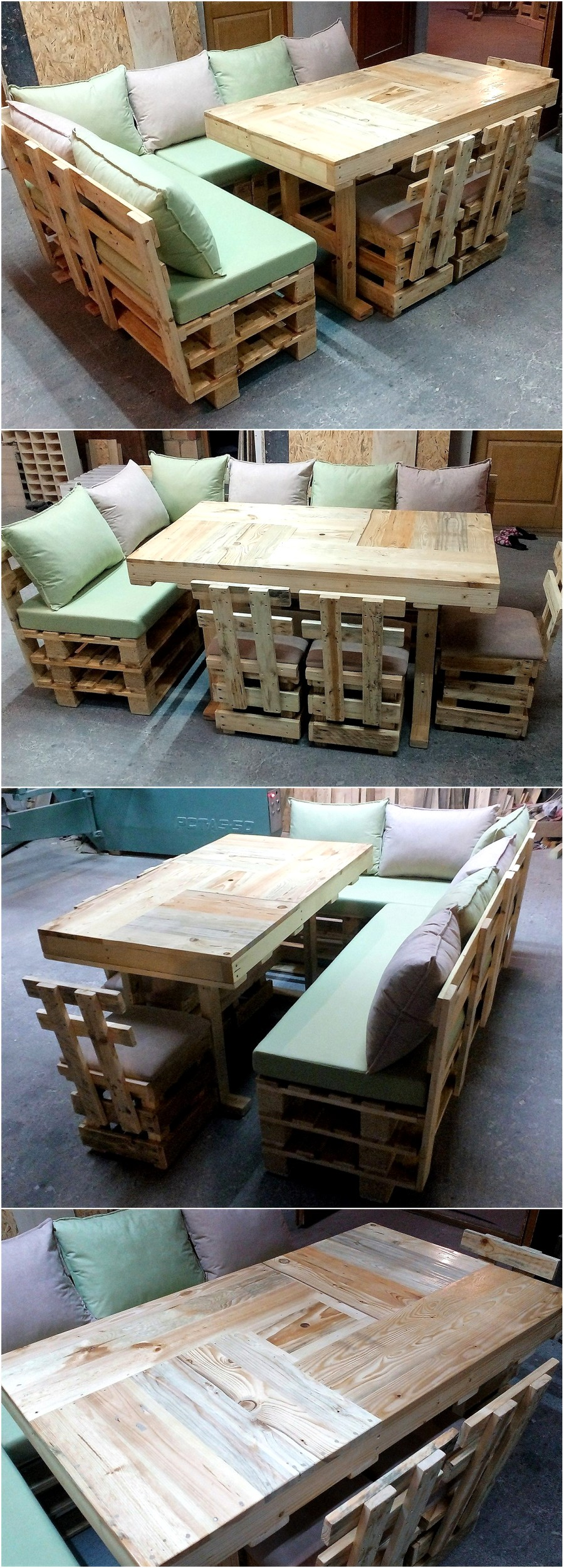 Simple Idea for Recycled Wooden Pallet Sofa