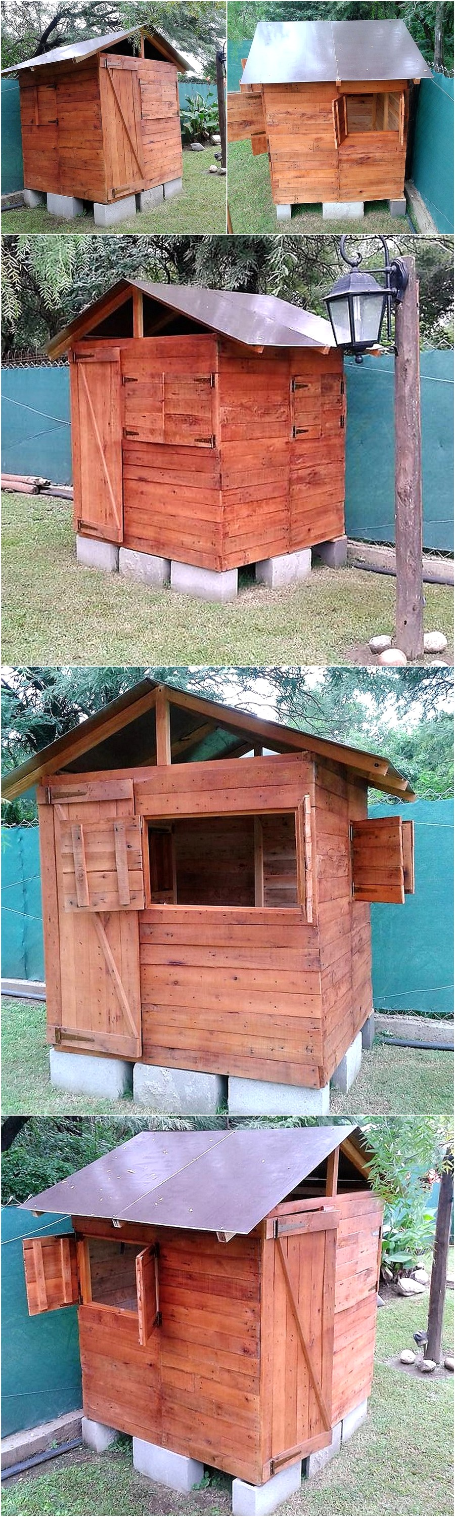 Wooden Pallet Repurposed Garden Cabin