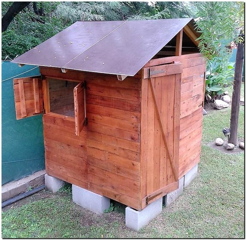 pallet garden cabin