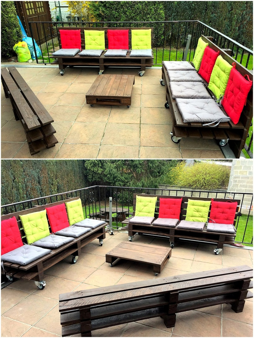pallet patio lounge plan