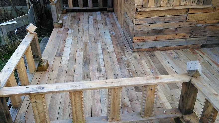 pallets outdoor terrace