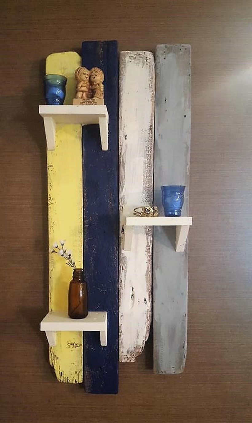 pallets rustic shelf art