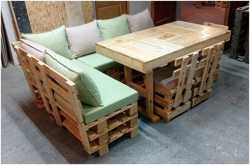 pallets wooden sofa set