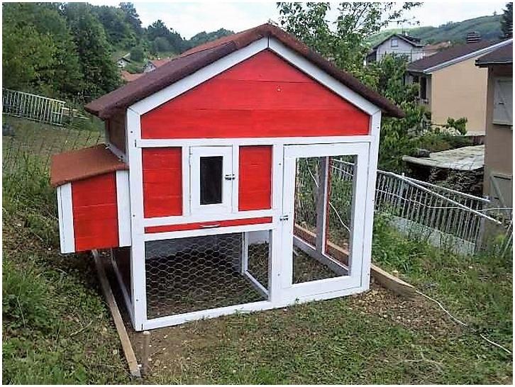 reclaimed pallet chicken coop