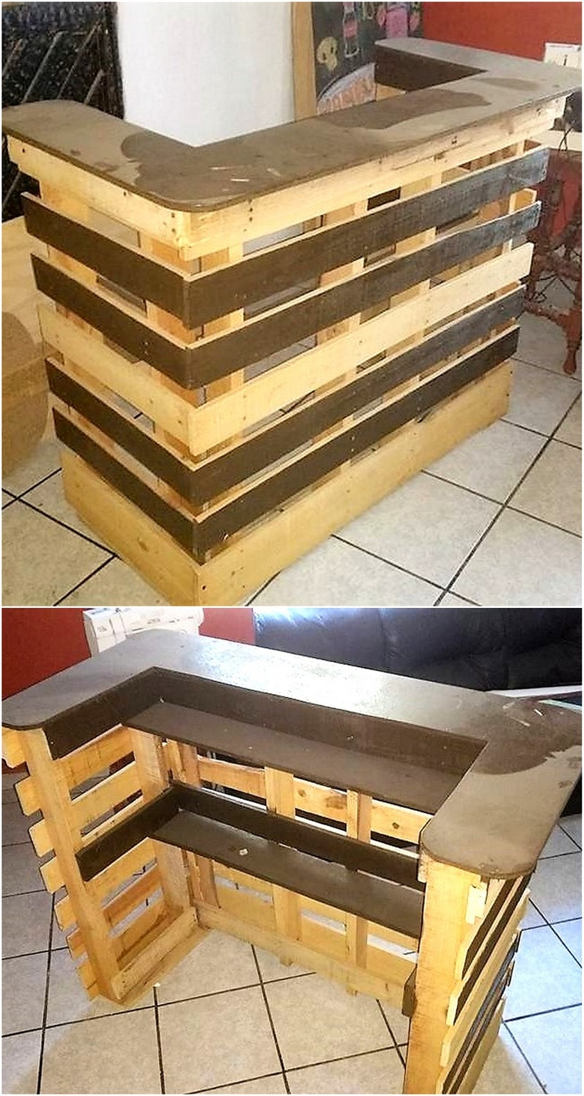 recycled pallet bar plan