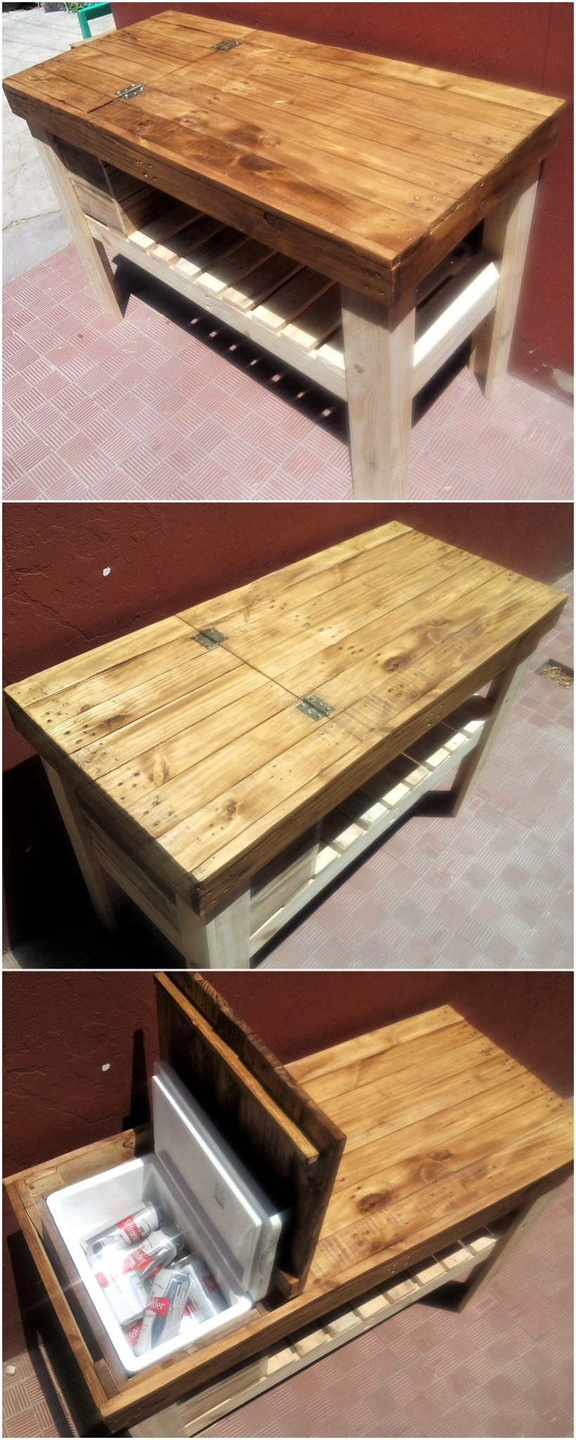 20 plans for wooden pallet recycling pallet ideas for Table cuisine palette