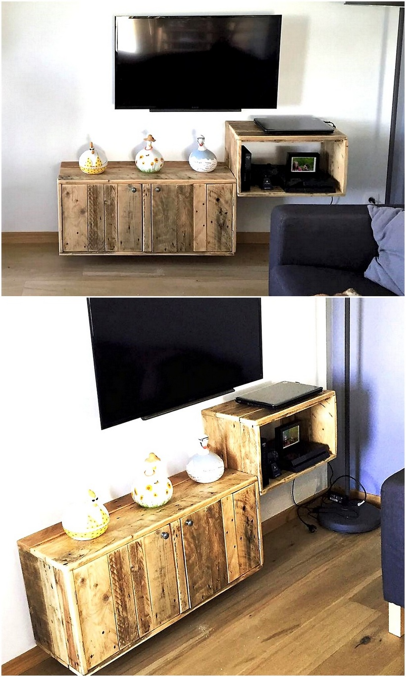wood pallet tv stand idea
