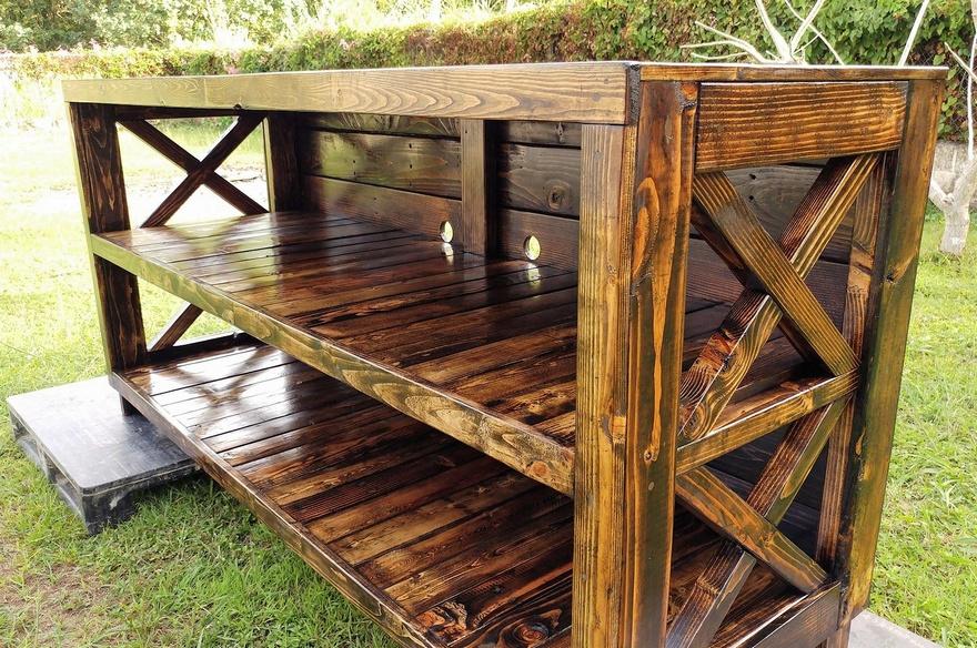 wood pallets entertainment center