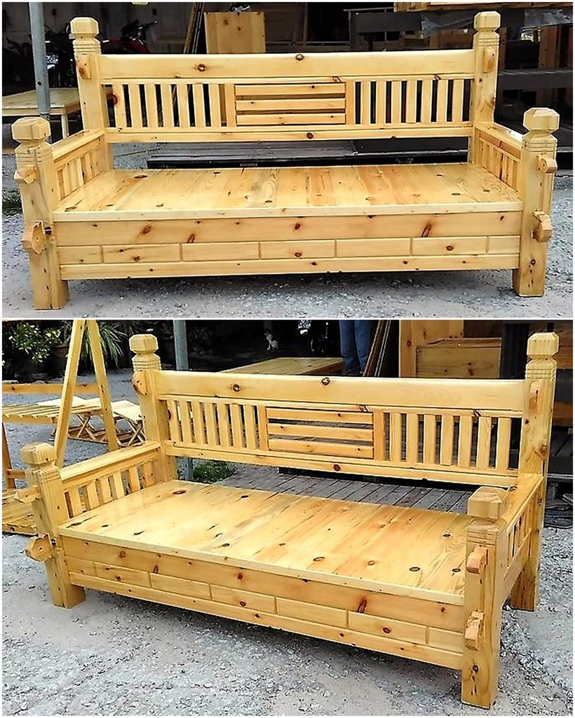 wooden pallet bench idea