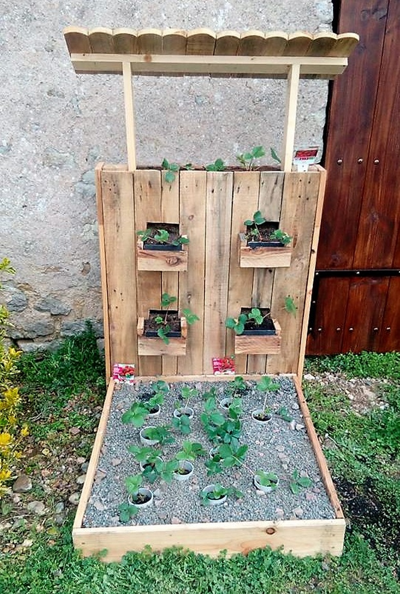 50 awesome wood pallet ideas for this summer pallet for Wood pallet herb garden