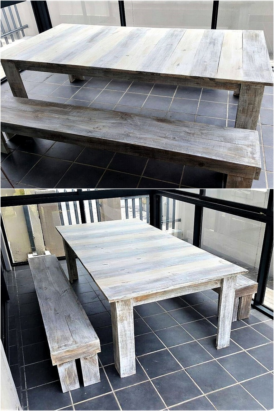 wooden pallets dinnng table