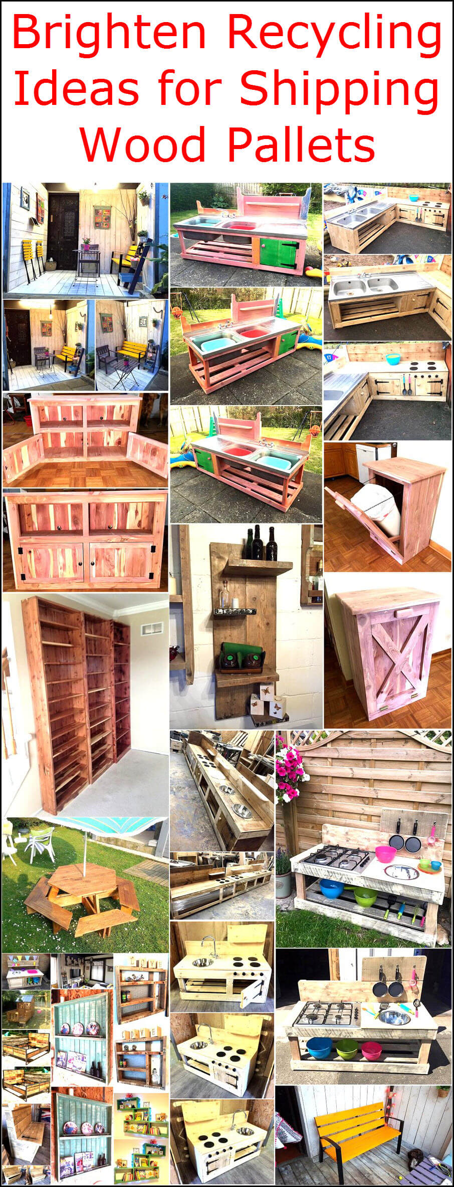 Brighten Recycling Ideas for Shipping Wood Pallets