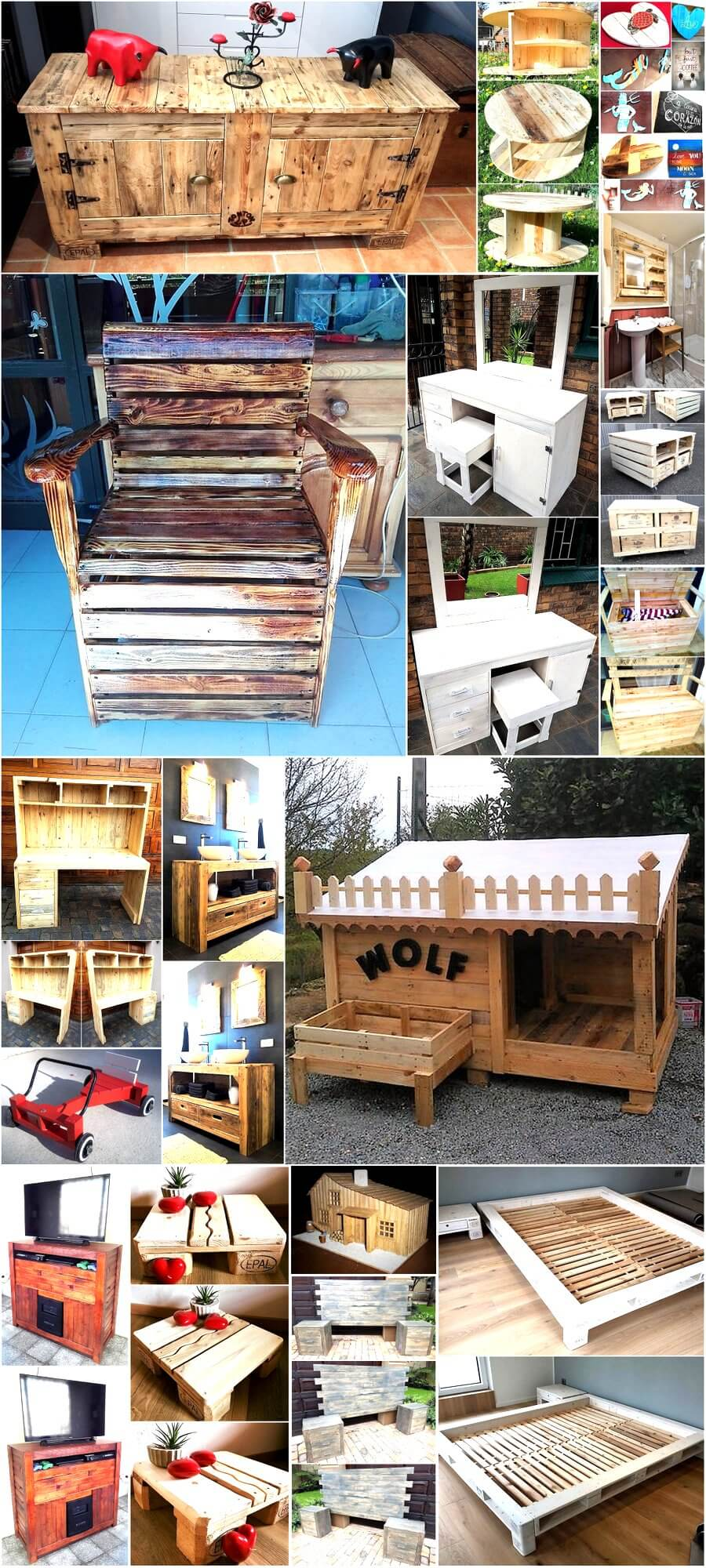 creative ideas with used shipping wood pallets pallet ideas