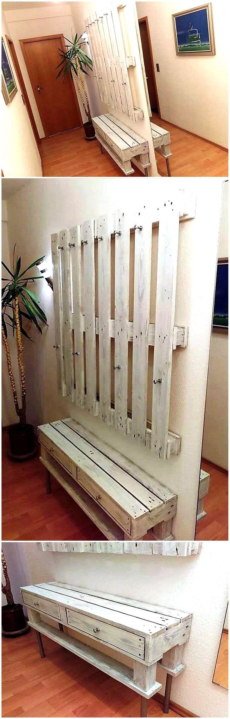 Pallet Entryway Furniture 1
