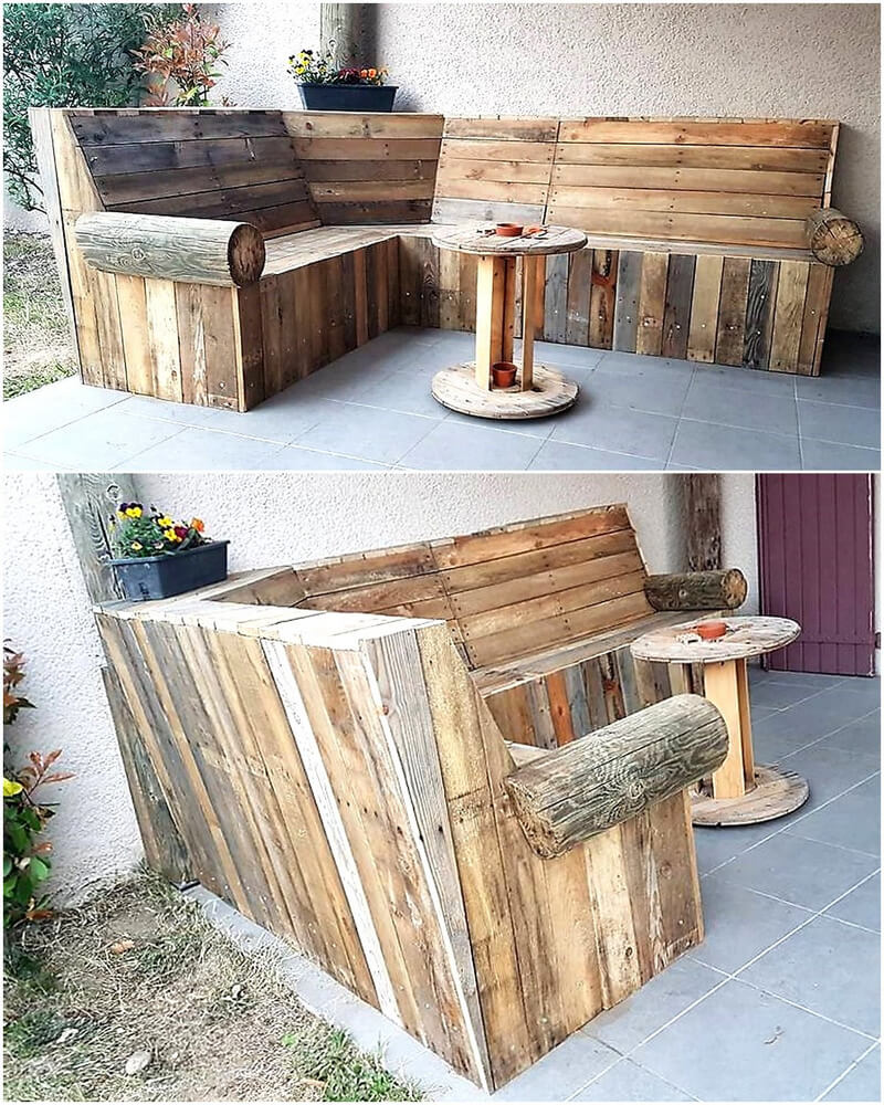 Pallets Garden Lounge Couch