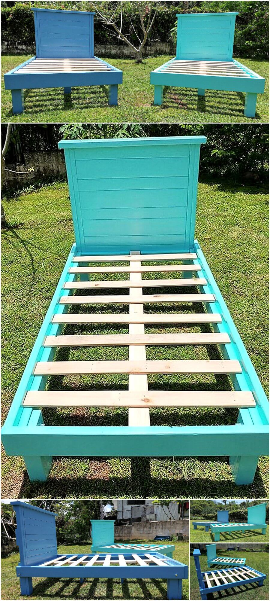 Pallets Made Twin Size Bed Frames