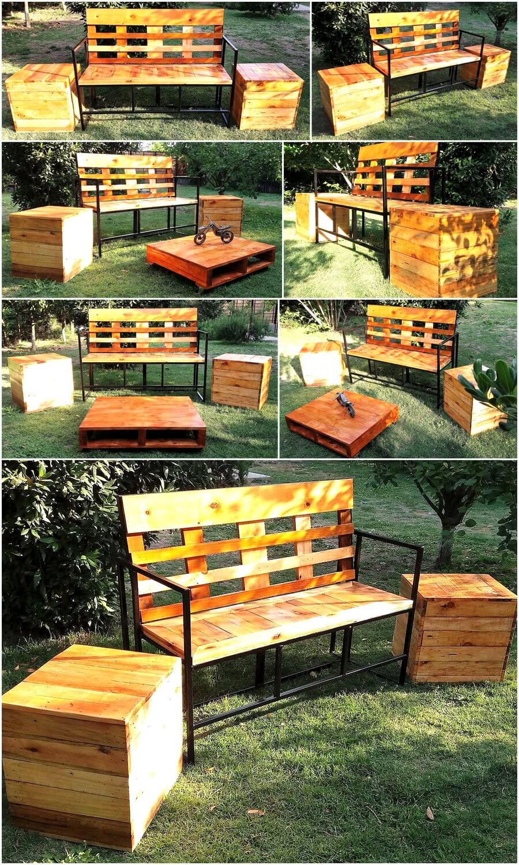 Reclaimed Pallets Garden Furniture Set
