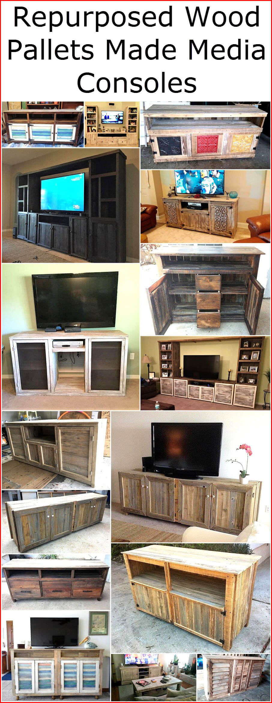Repurposed Wood Pallets Made Media Consoles