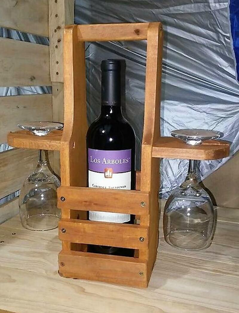 pallet bottle and glass holder 1