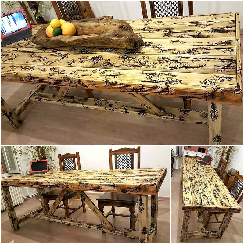 pallet dinning table plan