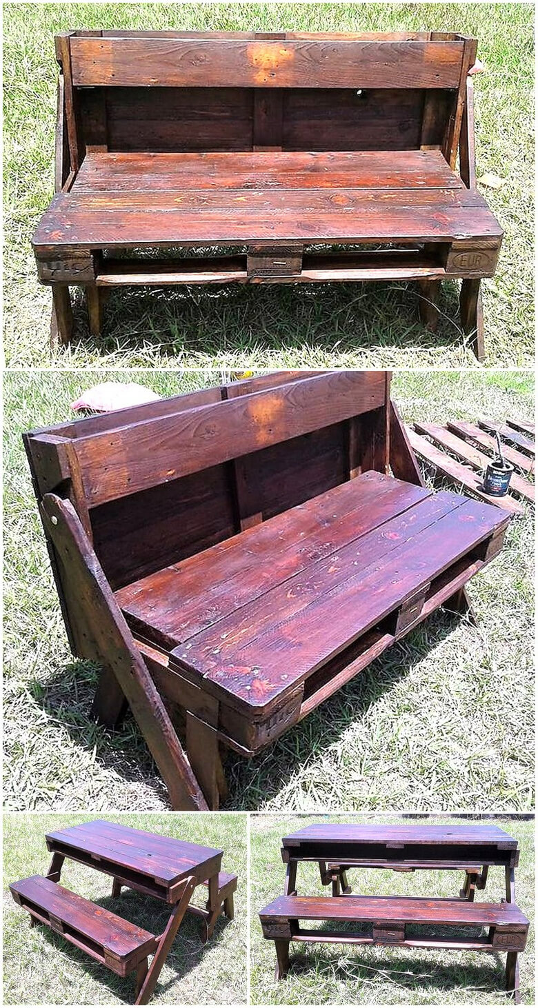 pallet folding furniture idea
