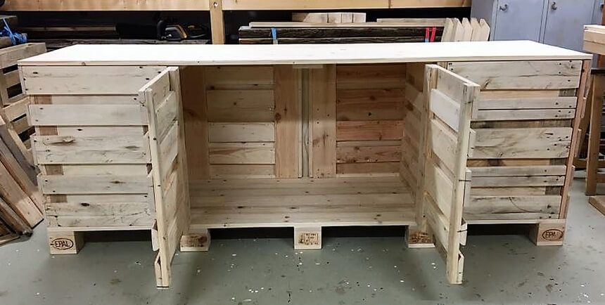 pallet kitchen counter cabinet