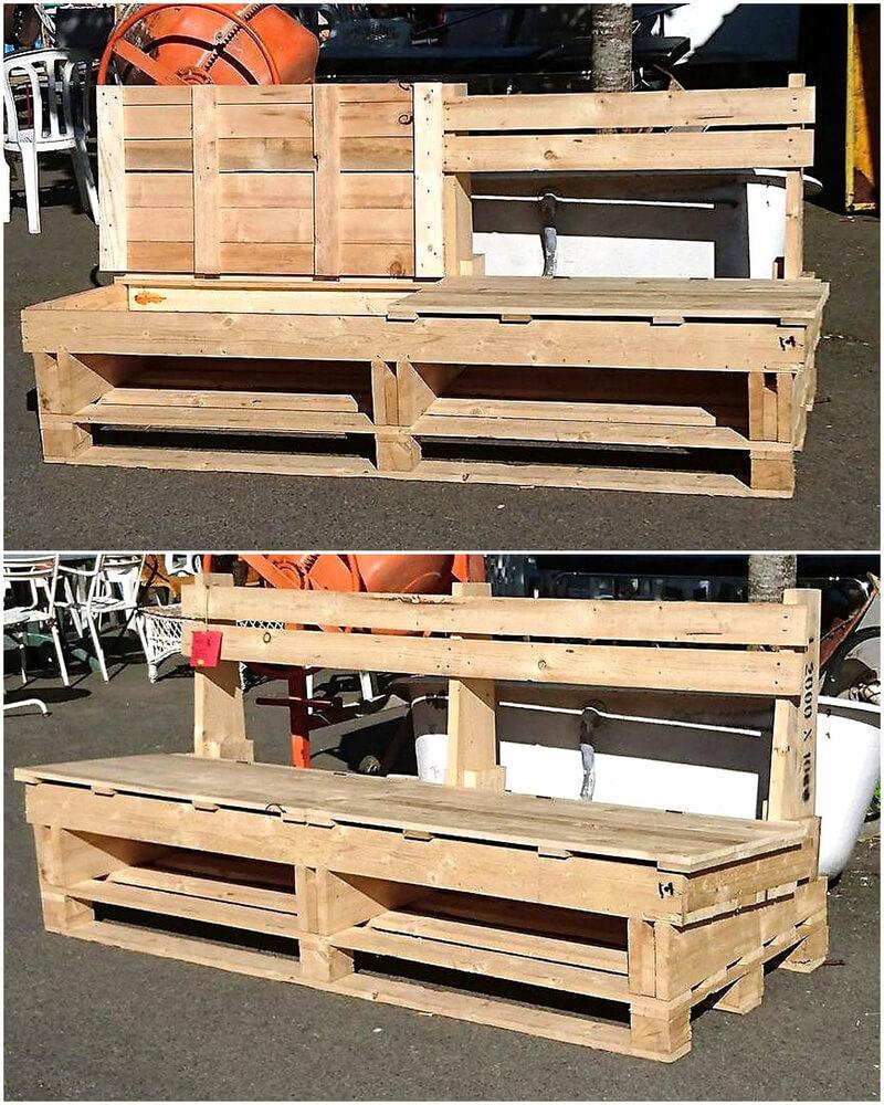 pallet patio bench plan