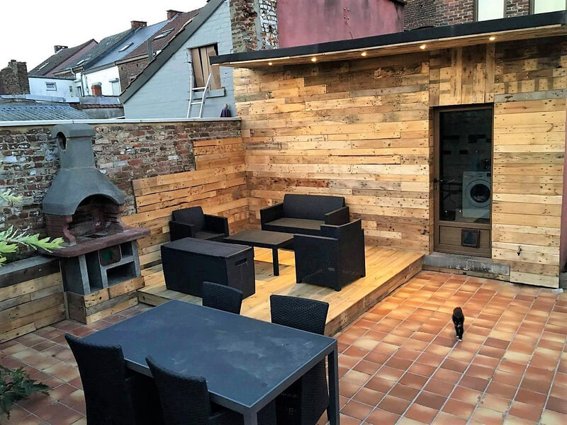 pallet patio deck and cabin