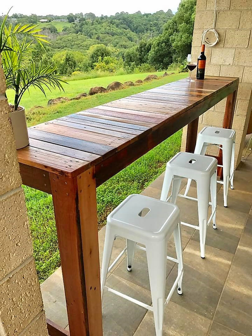 Some diy pallet ideas you will like to follow pallet ideas for Wood outdoor bar ideas