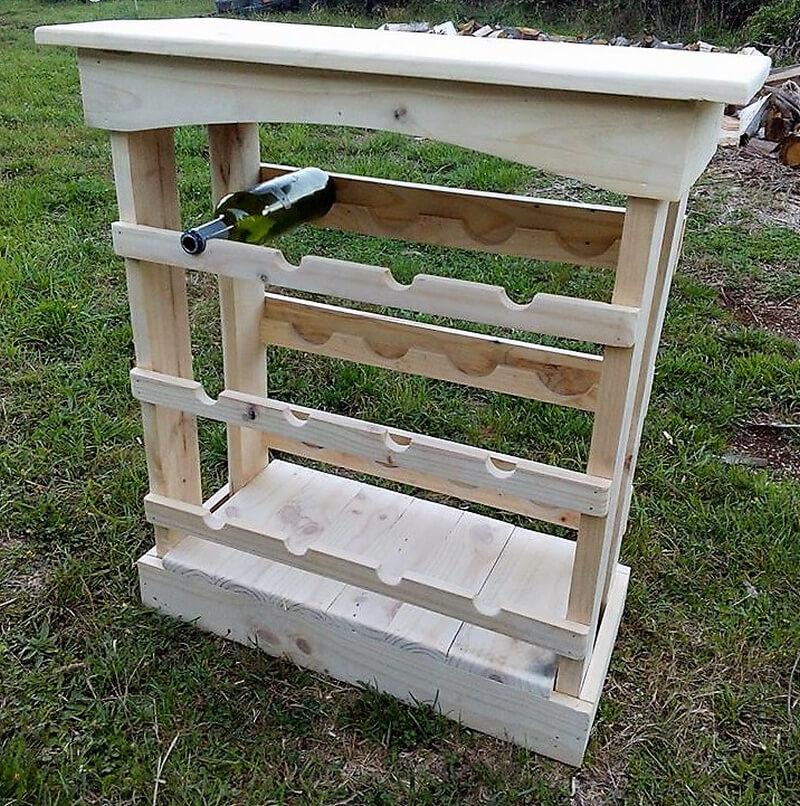 pallet wooden bar idea