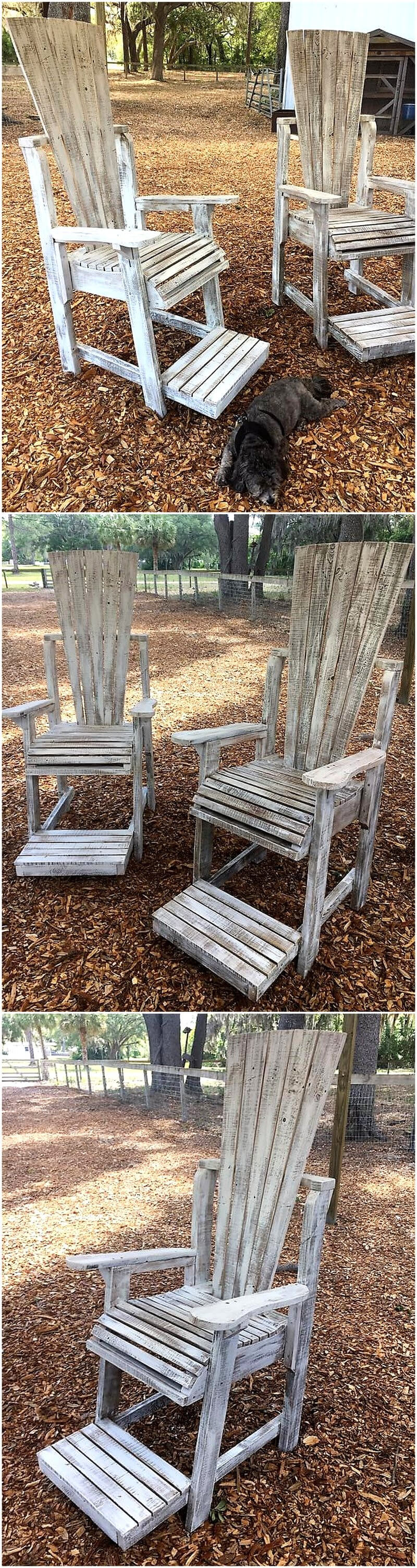 pallets Adirondack chairs