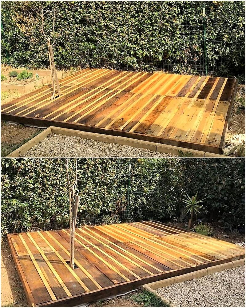 pallets garden deck floor idea 1
