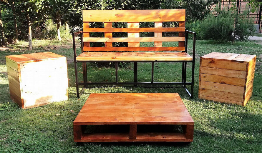pallets garden furniture set - Garden Furniture Stain