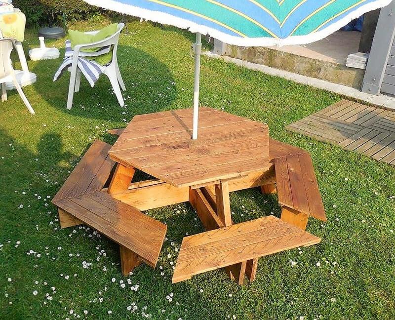 pallets garden seating idea