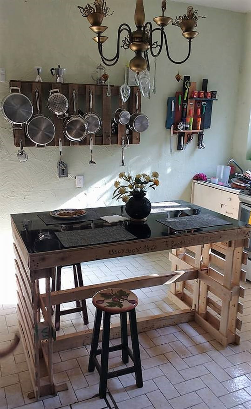 pallets kitchen table idea