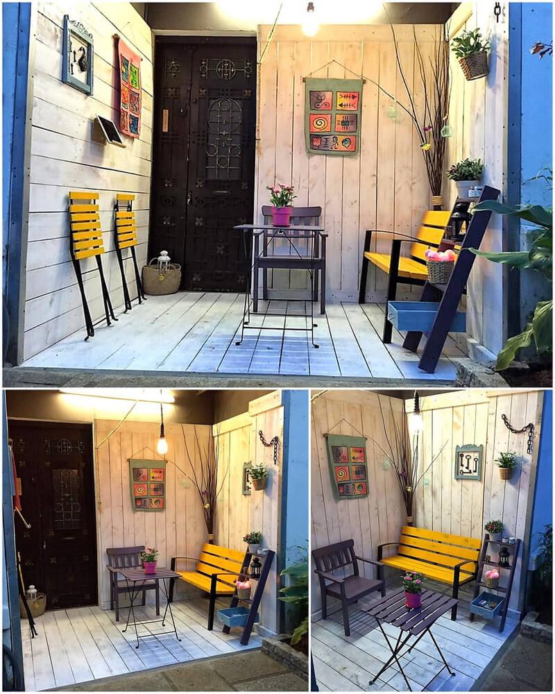 pallets little indoor deck