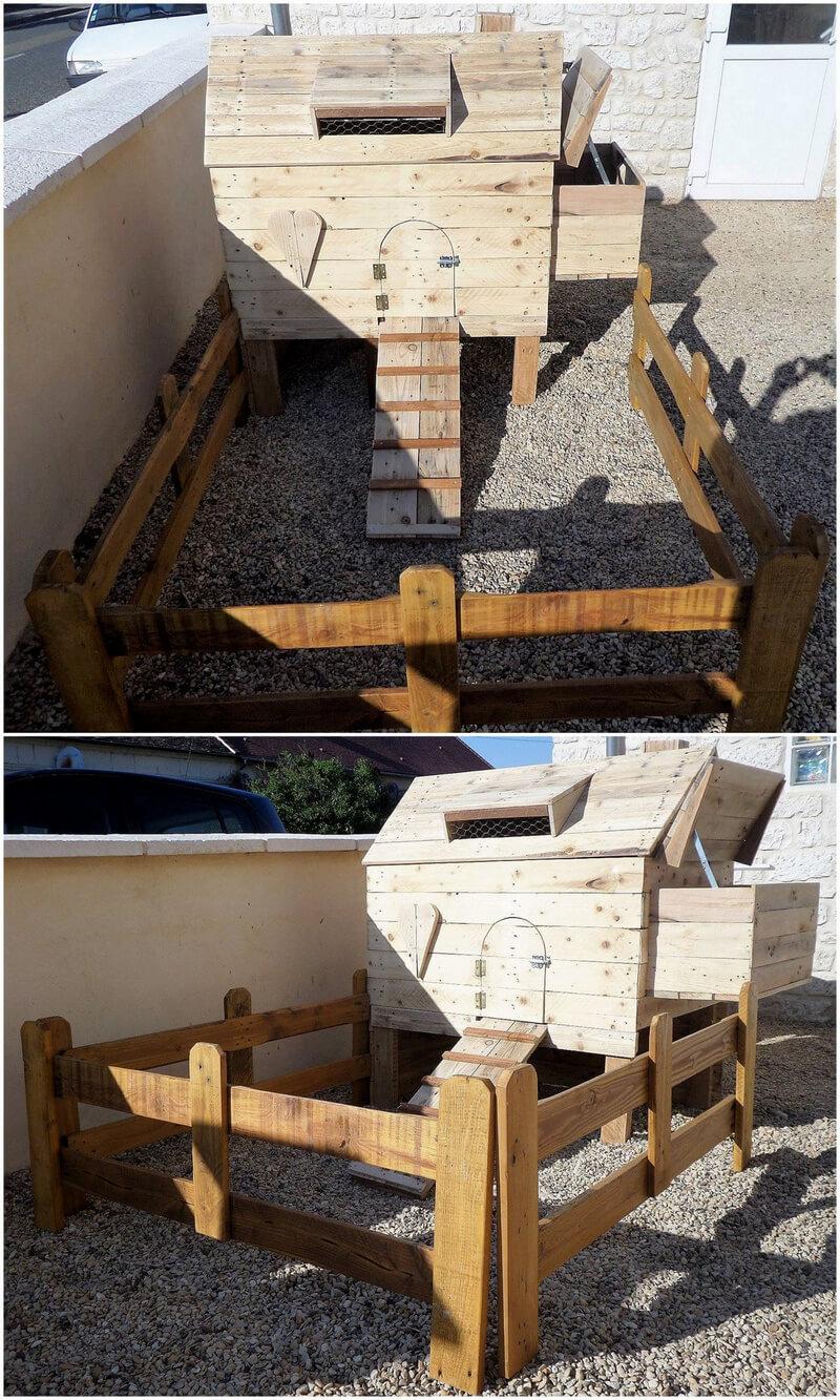 pallets made henhouse