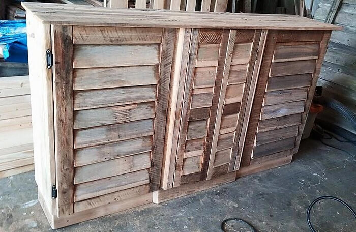 pallets media console project