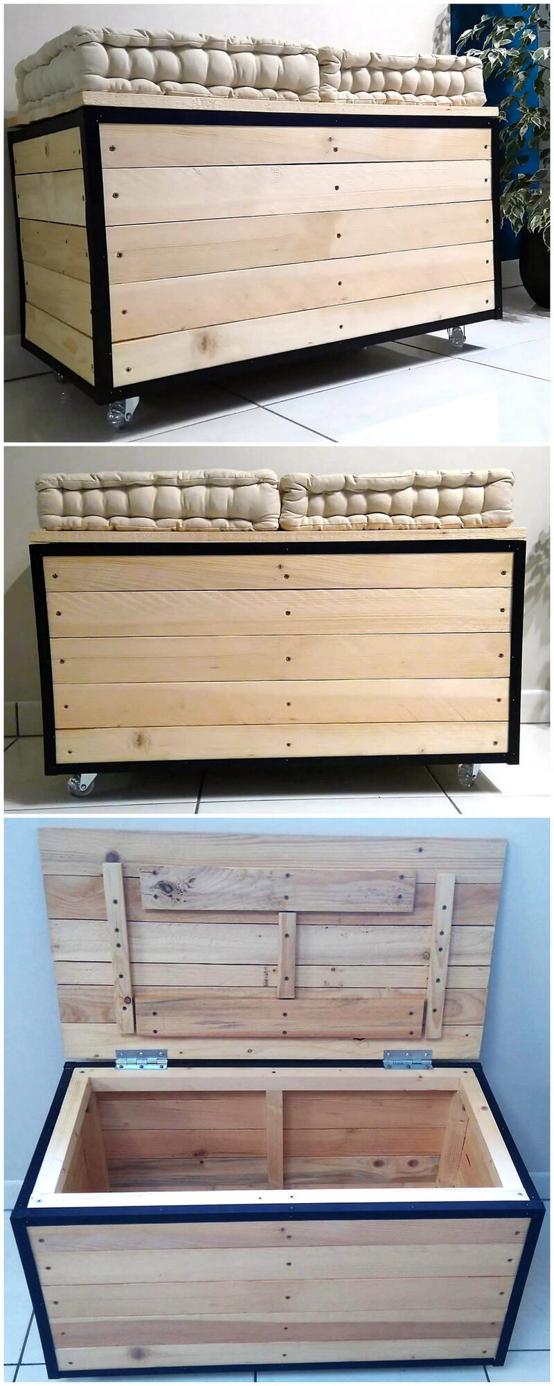 pallets mobile chest cum seat