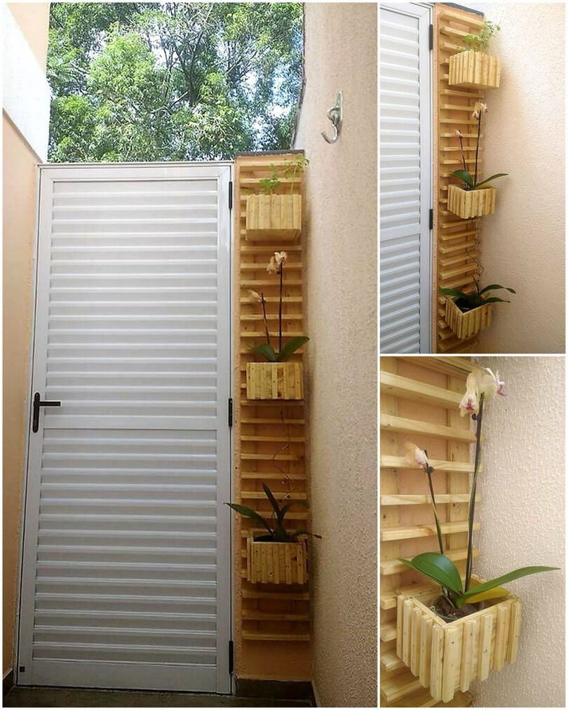 pallets patio wall planter