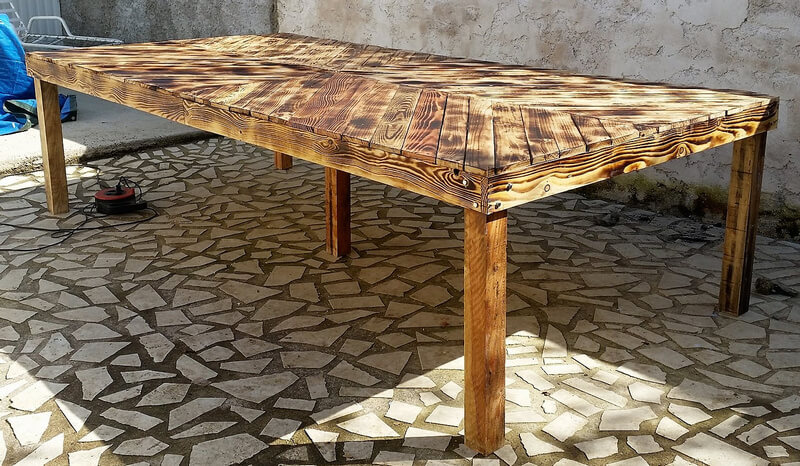 pallets ructic table