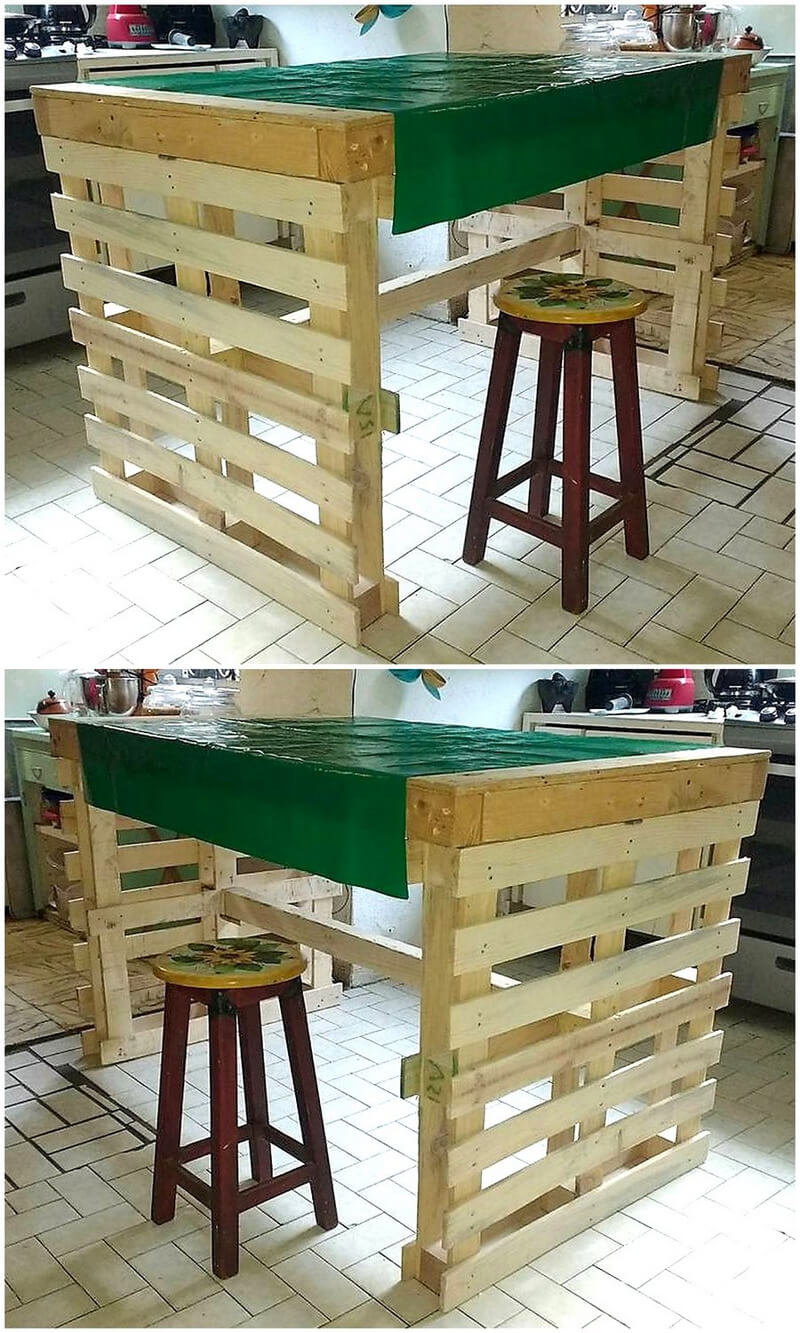 pallets table for kitchen
