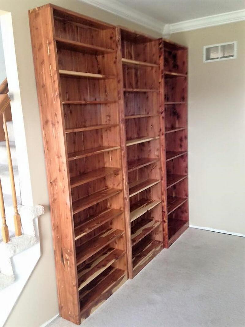 pallets wardrobe shelving
