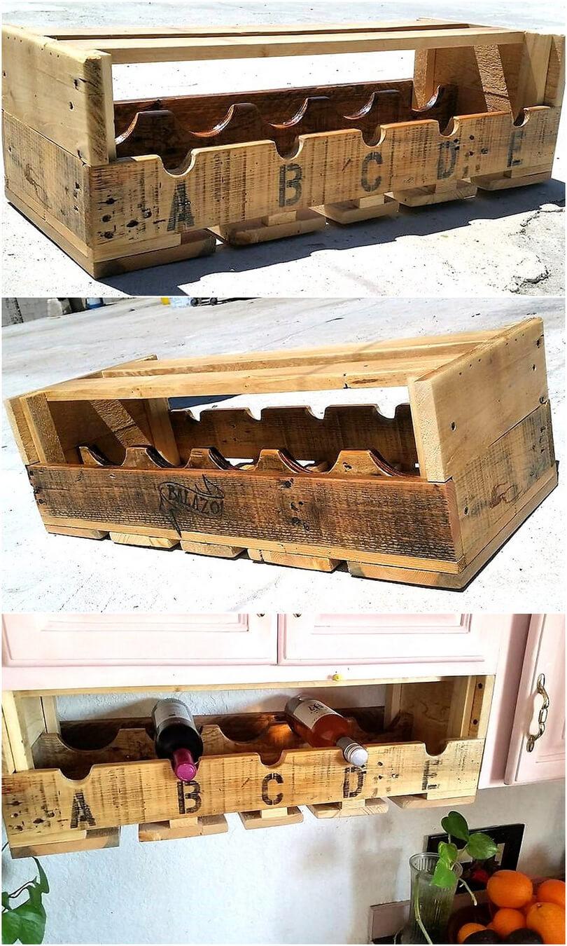 palllets bottles rack