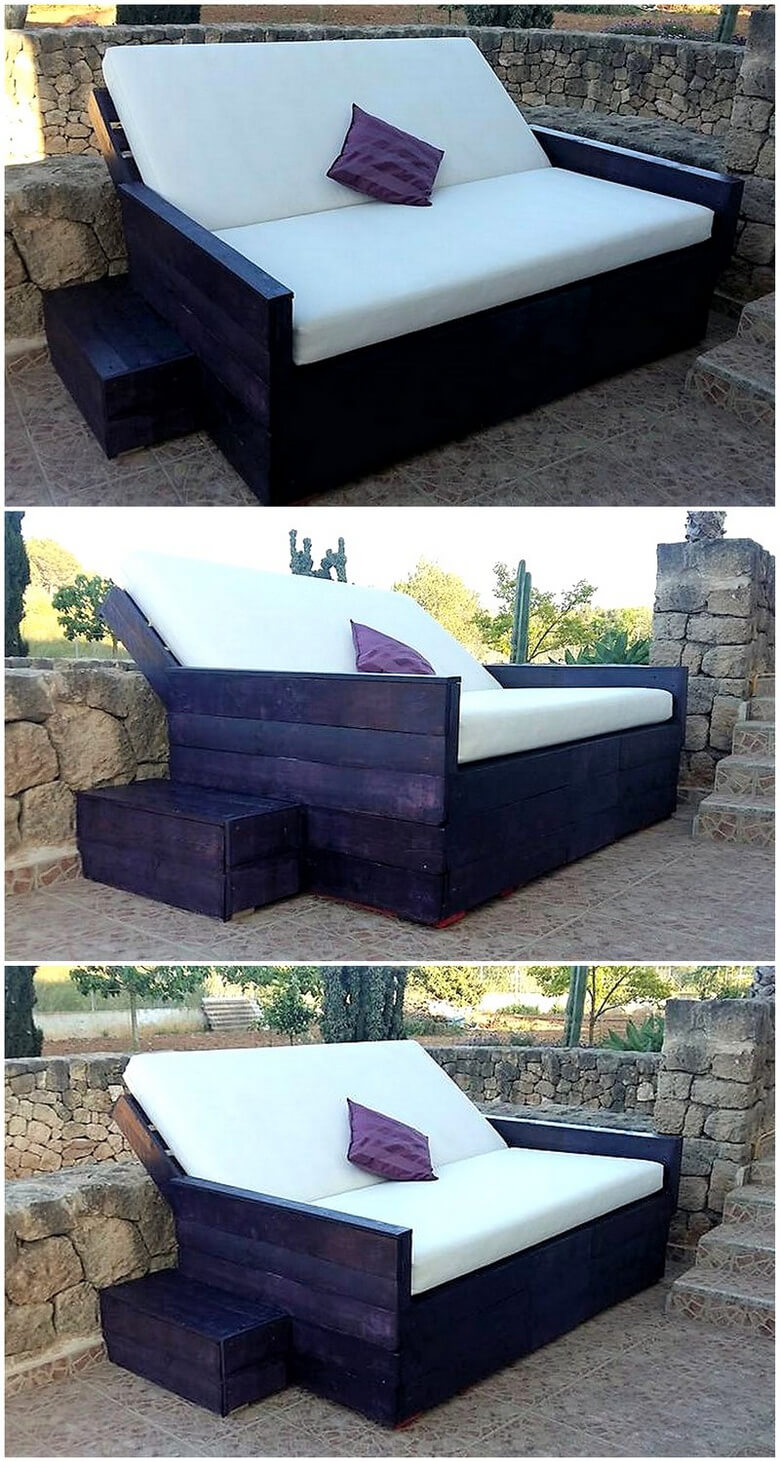 patio pallet wood loung couch